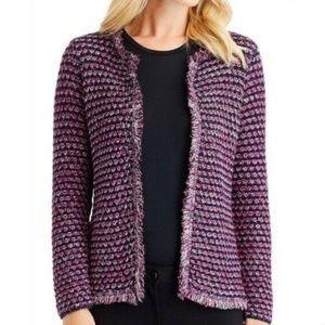 J. McLaughlin Aurelle Fringe Cardigan Sweater